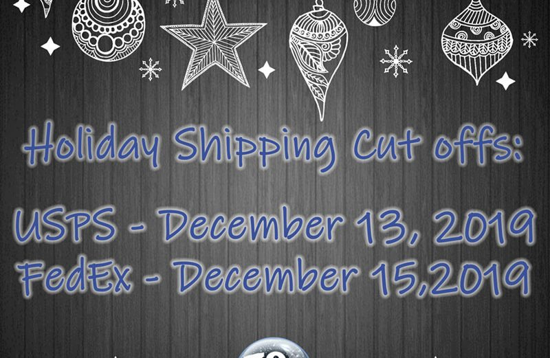Holiday Shipping Cut Offs